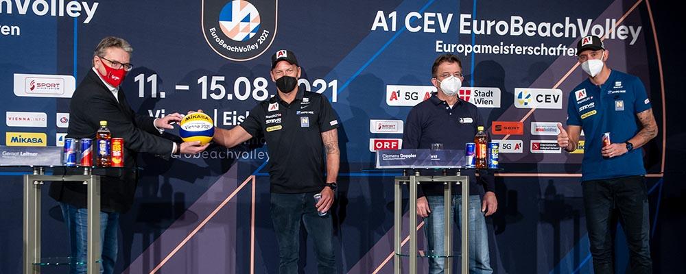 Beachvolleyball Europameisterschaft 2021 Auftakt Pressekonferenz