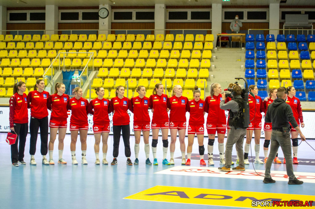 Kosovo - Oesterreich. Bild zeigt Team Oesterreich
