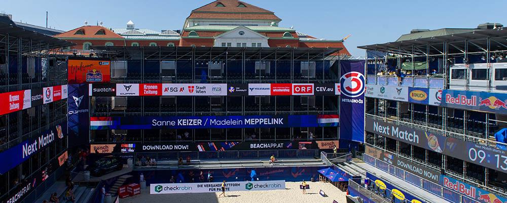 Beachvolleyball, Europameisterschaft, Tag 1